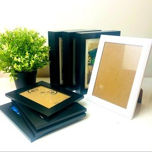 Assorted Ikea Black and White Photo Frames